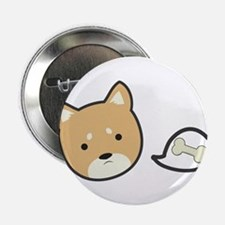 """Hungry Shiba 2.25"""" Button (100 pack)"""