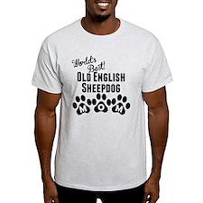 Worlds Best Old English Sheepdog Mom T-Shirt