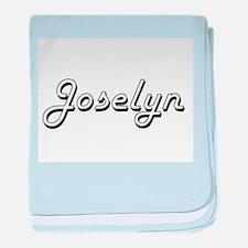 Joselyn Classic Retro Name Design baby blanket