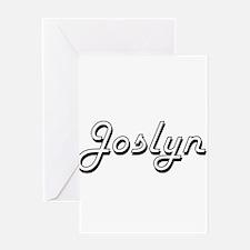 Joslyn Classic Retro Name Design Greeting Cards