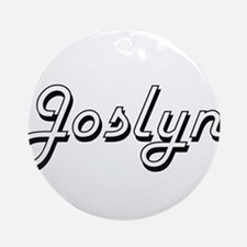 Joslyn Classic Retro Name Design Ornament (Round)