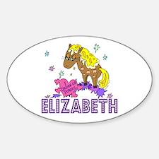 I Dream Of Ponies Elizabeth Oval Decal