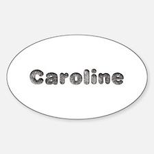 Caroline Wolf Oval Decal