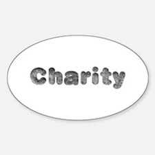 Charity Wolf Oval Decal
