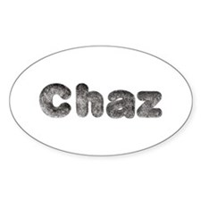 Chaz Wolf Oval Decal
