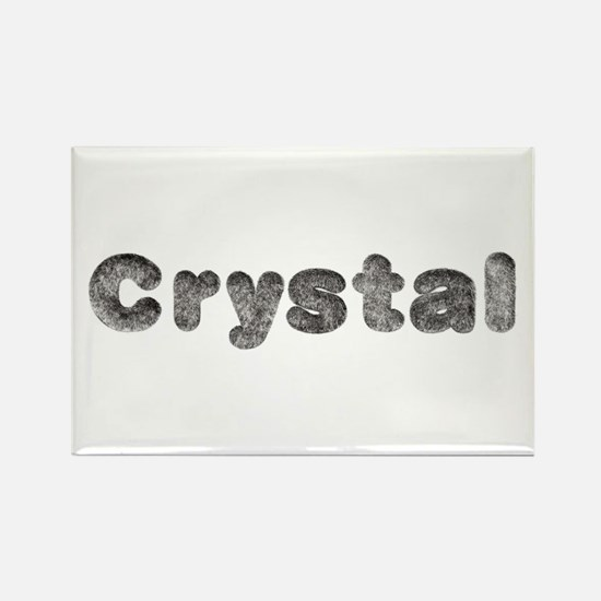 Crystal Wolf Rectangle Magnet