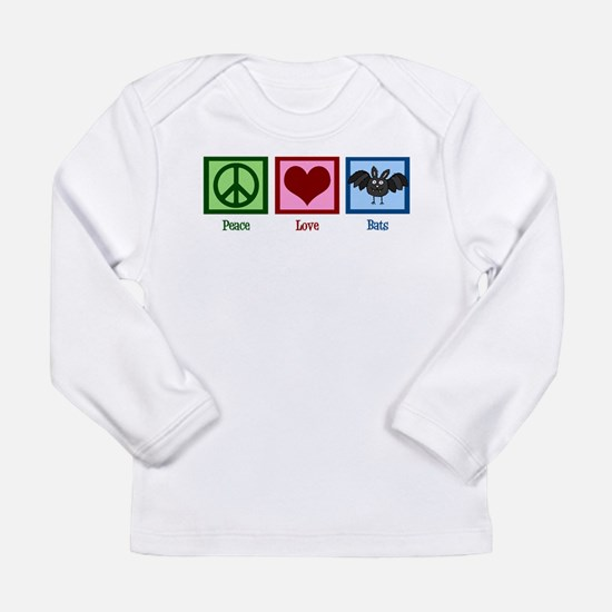 Peace Love Bats Long Sleeve T-Shirt