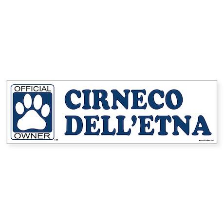 CIRNECO DELLETNA Bumper Sticker