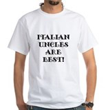 Italian uncle Mens White T-shirts