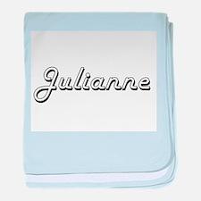 Julianne Classic Retro Name Design baby blanket