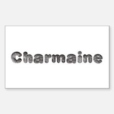 Charmaine Wolf Rectangle Decal