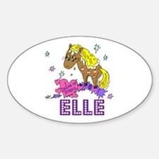 I Dream Of Ponies Elle Oval Decal