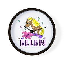I Dream Of Ponies Ellen Wall Clock