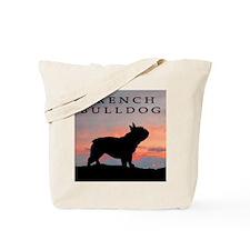 French Bulldog Sunset Tote Bag