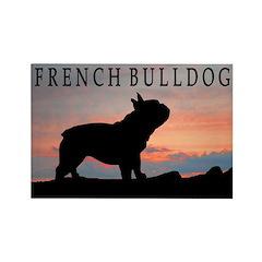 French Bulldog Sunset Rectangle Magnet