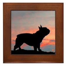 French Bulldog Sunset Framed Tile
