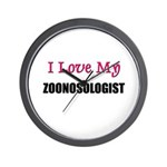 I Love My ZOONOSOLOGIST Wall Clock