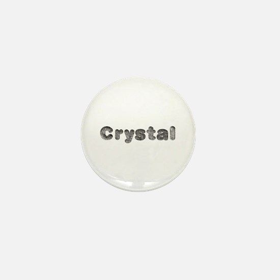 Crystal Wolf Mini Button
