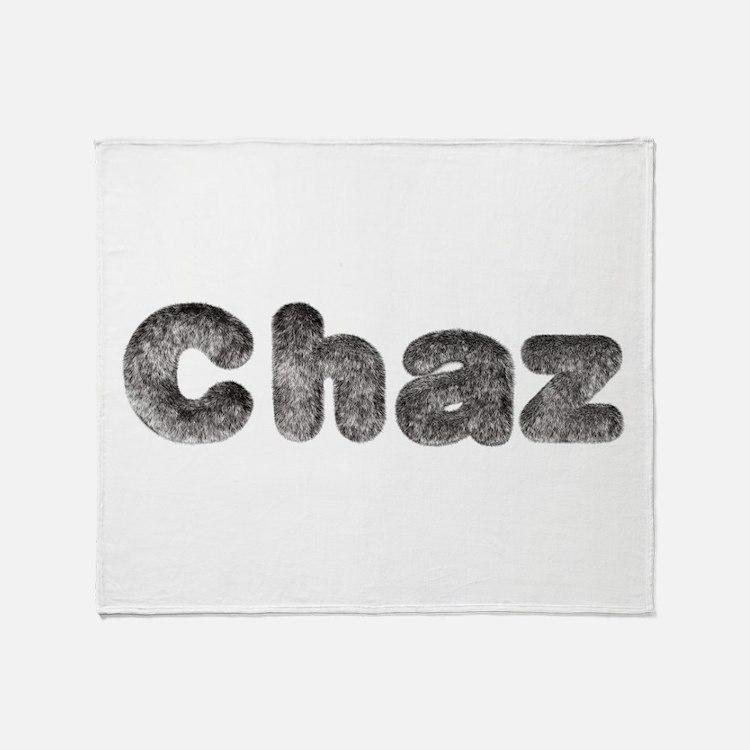 Chaz Wolf Throw Blanket