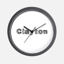 Clayton Wolf Wall Clock