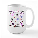 Hearts and Flowers Large Mug