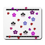 Hearts and Flowers Mousepad