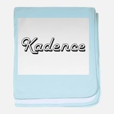 Kadence Classic Retro Name Design baby blanket
