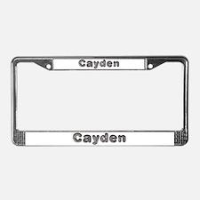 Cayden Wolf License Plate Frame