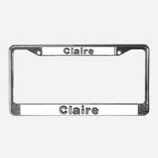 Claire Wolf License Plate Frame