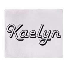 Kaelyn Classic Retro Name Design Throw Blanket