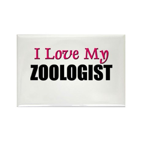 I Love My ZOOLOGIST Rectangle Magnet (10 pack)