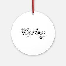 Kailey Classic Retro Name Design Ornament (Round)