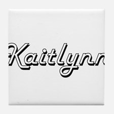 Kaitlynn Classic Retro Name Design Tile Coaster