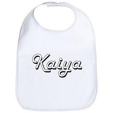 Kaiya Classic Retro Name Design Bib