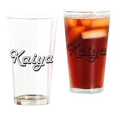 Kaiya Classic Retro Name Design Drinking Glass