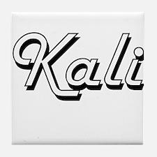 Kali Classic Retro Name Design Tile Coaster