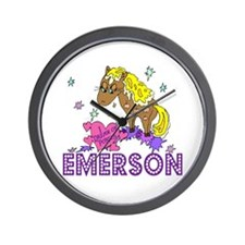 I Dream Of Ponies Emerson Wall Clock