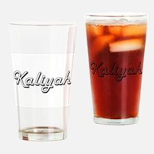 Kaliyah Classic Retro Name Design Drinking Glass