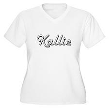 Kallie Classic Retro Name Design Plus Size T-Shirt