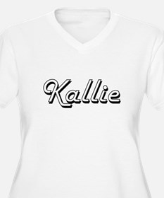 Kallie Classic Retro Name Design Plus Size T-Shirt