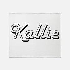 Kallie Classic Retro Name Design Throw Blanket