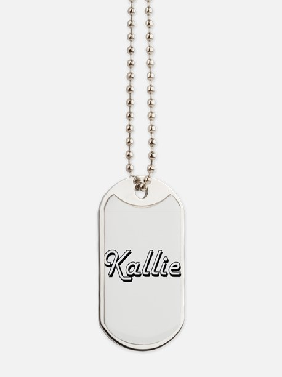 Kallie Classic Retro Name Design Dog Tags