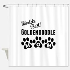 Worlds Best Goldendoodle Mom Shower Curtain