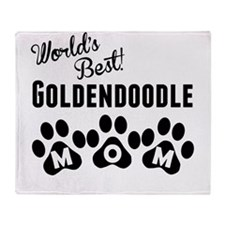 Worlds Best Goldendoodle Mom Throw Blanket