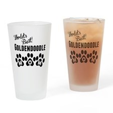 Worlds Best Goldendoodle Mom Drinking Glass