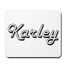Karley Classic Retro Name Design Mousepad