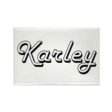 Karley Classic Retro Name Design Magnets