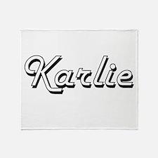 Karlie Classic Retro Name Design Throw Blanket