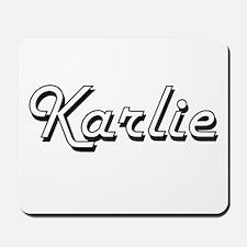 Karlie Classic Retro Name Design Mousepad