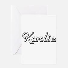 Karlie Classic Retro Name Design Greeting Cards